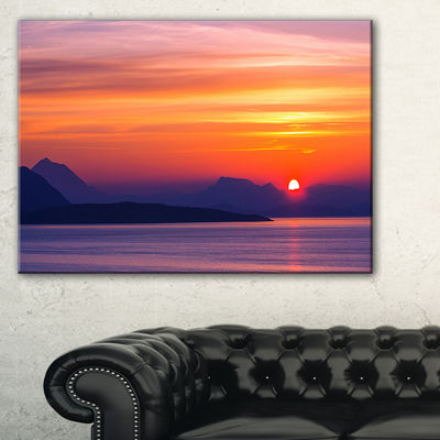 Designart Stunning Sunset In Greece Canvas Art