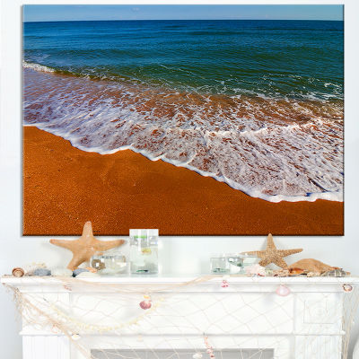 Designart Summer Beach With White Waves Canvas Art