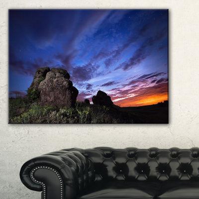 Designart Summer Night Blue Sky 3-pc. Canvas Art