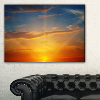 Designart Sunlight In Sky Above Horizon Canvas Art
