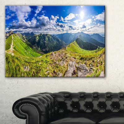 Designart Sunny Day Tatra Mountains Panorama Canvas Art