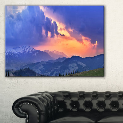 Designart Sunny Spring Evening Panorama Canvas Art
