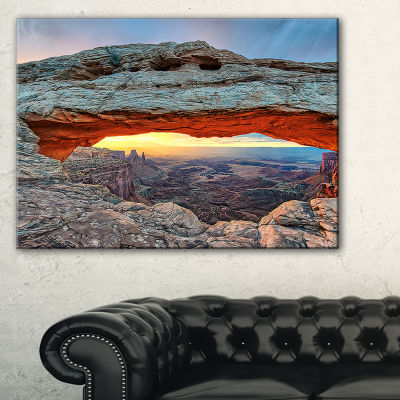 Designart Sunrise At Mesa Arch In Canyon Lands Canvas Art
