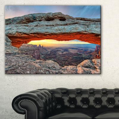 Designart Sunrise At Mesa Arch In Canyon Lands Canvas Art