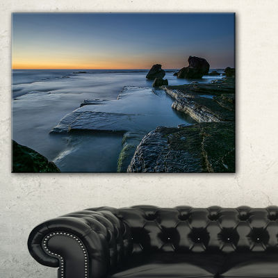 Designart Sunrise At Sydney Seashore Canvas Art