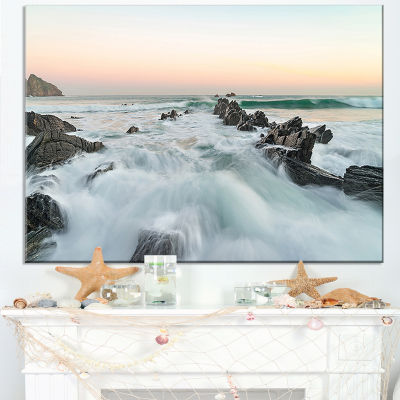 Designart Sunrise At The Bay Of Biscay Canvas Art