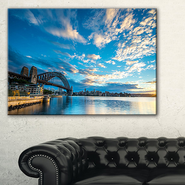 Designart Sunrise From Sydney Harbor Bridge Canvas Art