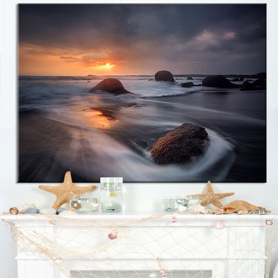 Designart Sunrise In Burgas Bay Near Atia Canvas Art