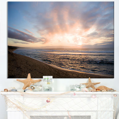 Designart Sunrise Over Indian Ocean Waters Canvas Art