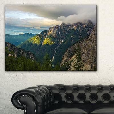 Designart Sunrise With Yellow Reflection Canvas Art