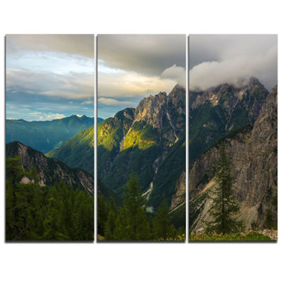 Designart Sunrise With Yellow Reflection 3-pc. Canvas Art