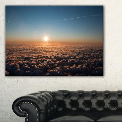 Designart Sunset Above The Dark Clouds Canvas Art