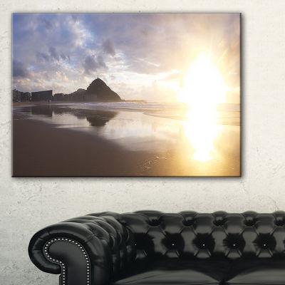Designart Sunset At Donostia Beach Canvas Art