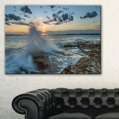 Designart Sunset At Sydney Seashore Canvas Art