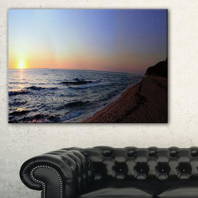 Designart Sunset Beach Panorama Canvas Art