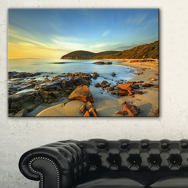 Designart Sunset In Cala Violina Bay Canvas Art
