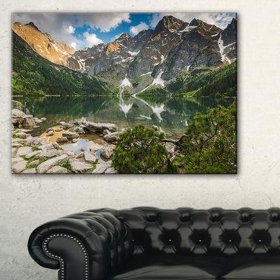 Designart Sunset Over High Mountains Canvas Art