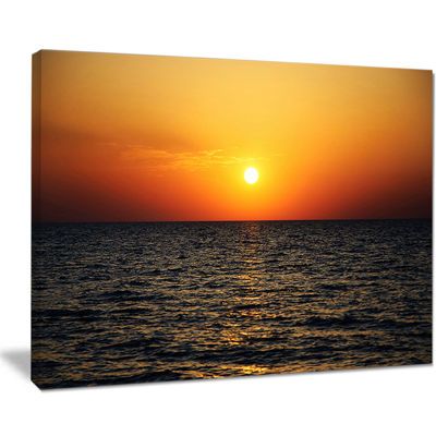 Designart Sunset Panorama Under Sea Surface Canvas Art