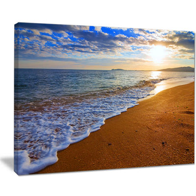 Designart Sydney Early Morning Beach Canvas Art