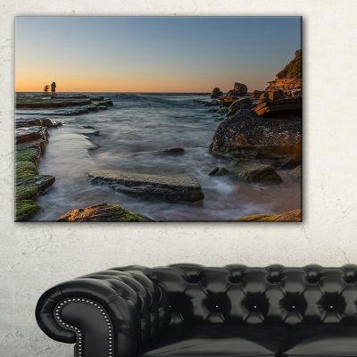 Designart Sydney Sunrise Over Seashore Canvas Art