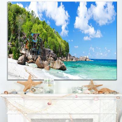 Designart Takamaka Beach In Mahe Island Canvas Art