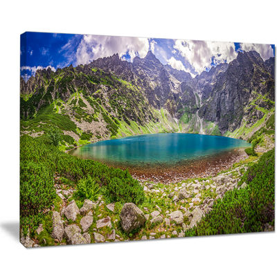 Designart Tatra Mountains At Dawn Panorama Canvas Art