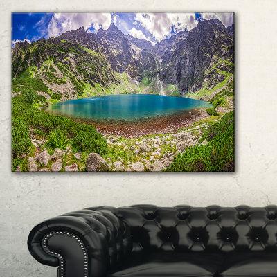 Designart Tatra Mountains At Dawn Panorama Canvas Art