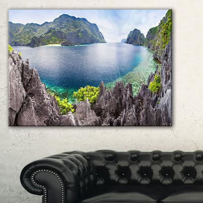 Designart The Lagoon Panorama Canvas Art