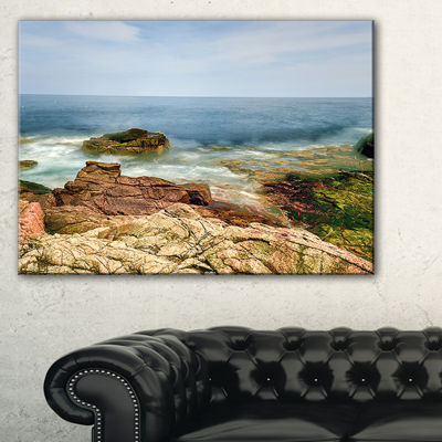 Designart Thunder Hole Acadia National Park Canvas Art