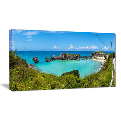 Designart Tobacco Bay Panorama Canvas Art