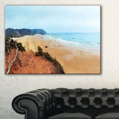 Designart Tranquil Coastline With Waves Canvas Art