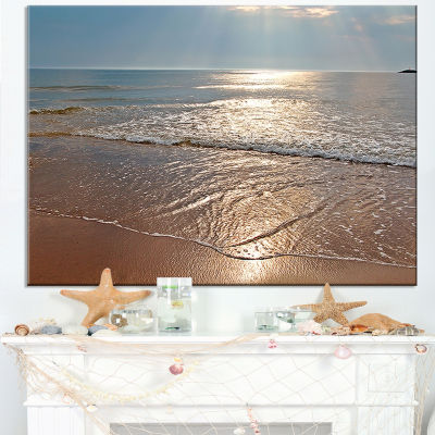 Designart Tranquil Seashore With Crystal Waters Canvas Art