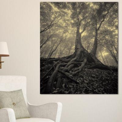 Designart Tree With Big Roots On Halloween 3-pc. Canvas Art