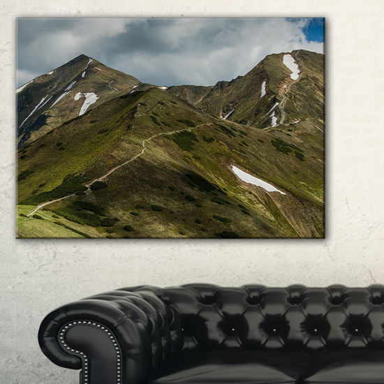 Designart Trekking Patch In Tatra Mountains Canvas Art