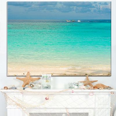 Designart Tropical Andaman Sea With Blue Sky Canvas Art