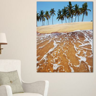 Designart Tropical Beach With Crystal Waters Canvas Art