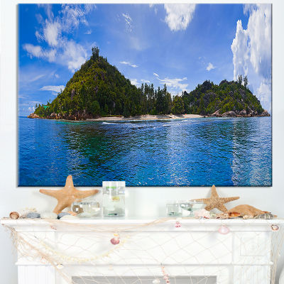 Designart Tropical Island At Seychelles Panorama Canvas Art