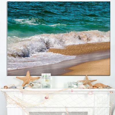 Designart Typical Atlantic Seashore In Summertime Canvas Art