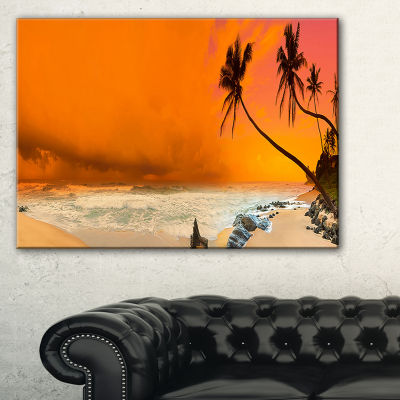 Designart Typical Evening Seashore Panorama Canvas Art