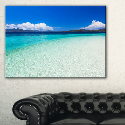 Designart Vacant Beach With Turquoise Water Canvas Art