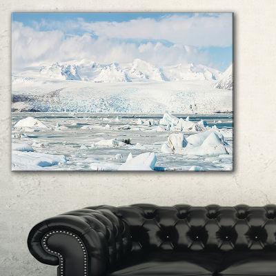 Designart Vatnajokull Glacier In Iceland Canvas Art