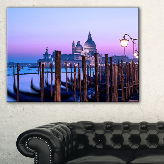 Designart Venice Sunset Panorama At Twilight Canvas Art