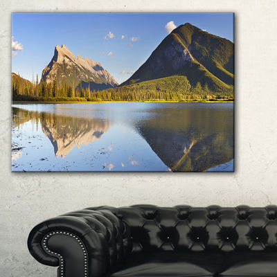 Designart Vermillion Lakes And Mount Rundle Canvas Art