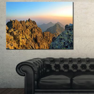 Designart View From Baranie Rohy Peak Canvas Art