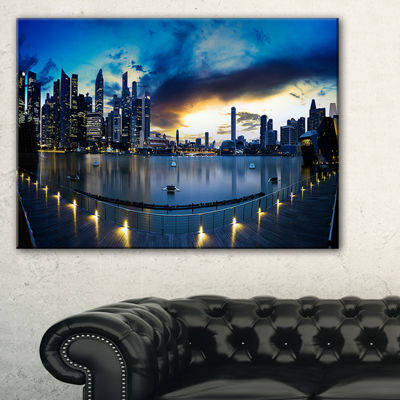Designart View From Marina Bay Sands Panorama Canvas Art