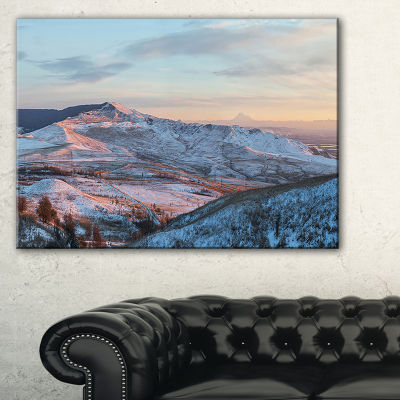Designart View From Mount Strizhament Canvas Art