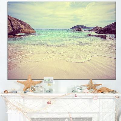 Designart Vintage Style Seashore Thailand Canvas Art