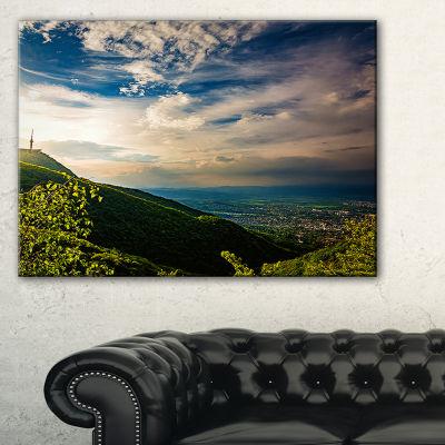 Designart Vitosha Mountain Over Sofia Bulgaria Canvas Art