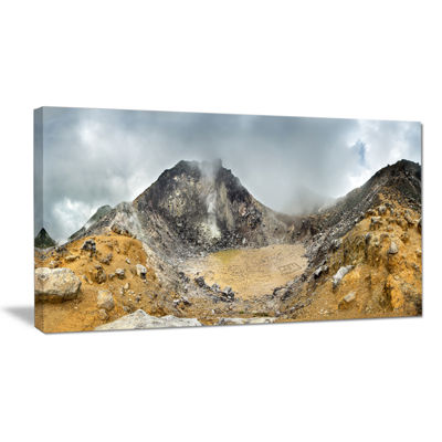 Designart Volcano Panorama With Dramatic Sky Canvas Art