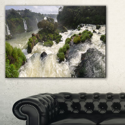 Designart Waterfall Iguacu Falls In Brazil Canvas Art